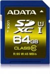 ADATA Secure Digital SDXC Card UHS-I 64 GB Class 10, Premium Pro