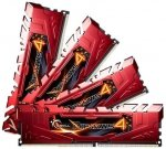 G.Skill DIMM 32 GB DDR4-2666 Kit,  rot, F4-2666C15Q-32GRR, Ripjaws 4 Red