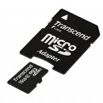 Transcend MicroSDHC Card    16GB + Adapter / Class 10
