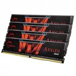 G.Skill 32 GB DDR4-2400 Quad-Kit, F4-2400C15Q-32GIS, Aegis