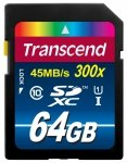 Transcend SD Card SDXC 64GB Class 10 / UHS-I / 300x