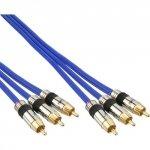 Kabel InLine Cinch Audio/Video - pozłacane styki - 3x Cinch 1m