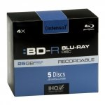 Intenso BD-R 25 GB 4x speed, 5 szt.