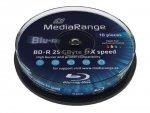 MediaRange BD-R 25GB 6x, 10 szt., printable