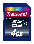 Transcend Secure Digital SDHC Card 4 GB Class 10
