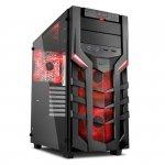 Sharkoon DG7000-G, Obudowa czarny/czerwony, Window-Kit