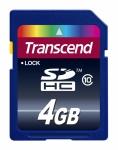 Transcend SD Karte SDHC 4GB Class 10