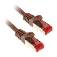 InLine 0,5m Cat.6 kabel sieciowy 1000 Mbit RJ45 - brązowy