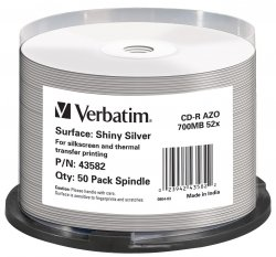 1x50 Verbatim CD-R 80 / 700MB 52x Speed, Thermo Printable