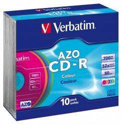 1x10 Verbatim Data Life Plus 52x CD-R 80 700MB, Colour Slim