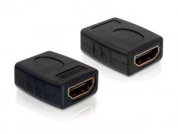DeLOCK Adapter HDMI Buchse na HDMI Buchse czarny