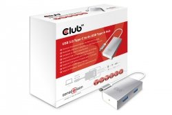 Club3D Adapter USB 3.0 Typ C > 4x USB 3.0 Typ A retail