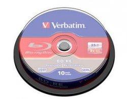 Verbatim BD-RE 25 GB 2x, 10 szt., bia