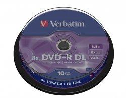1x10 Verbatim DVD+R Double Layer 8x Speed, 8,5GB matowy srebrny