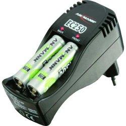 Ansmann Smart Eco Set + 4 maxE NiMH Akkus AA 800 mAh