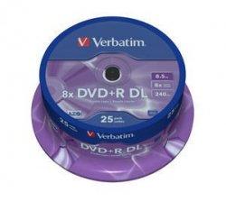 Verbatim DVD+R DL 8,5 GB 8x, 25 szt.