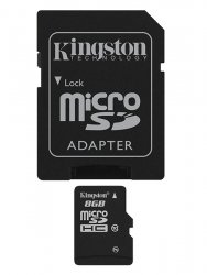 Kingston Karta microSDHC 8 GB Class 10