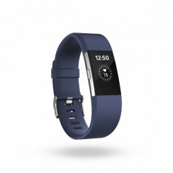 Fitbit Charge 2 large                blue/silver