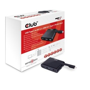 Club3D Adapter USB 3.0 Typ C > DP1.2/USB3/USB-C   MiniDock retail