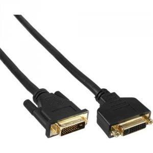 Przedłużacz InLine DVI-D Dual Link - pozłacane końcówki - 3m