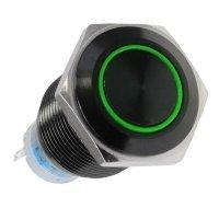 Lamptron włącznik 19mm - Blackline - zielony