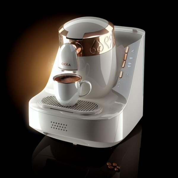 Arzum Okka - ekspres do kawy - biały - 710W
