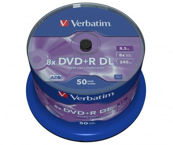 Verbatim DVD+R DL 8,5 GB 8x, 50 szt.
