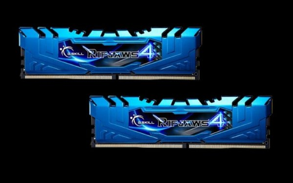 G.Skill 8GB DDR4-3000 Kit, niebieski F4-3000C15D-8GRBB, Ripjaws 4