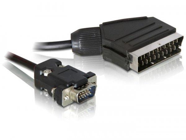 DeLOCK Kabel Video Scart na VGA SCART |} VGA, czarny