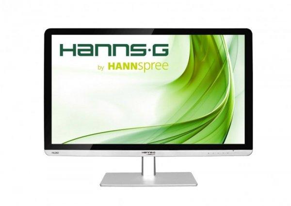 HannsG HU282PPS, srebrny, HDMI, DVI, DisplayPort, Audio