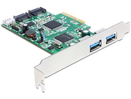 DeLOCK PCI Express Karte > 2x USB 3.0, 2x SATA, Controller