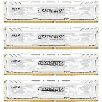 Crucial Ballistix Sport LT 64GB Kit 16GBx4 DDR4 2400 288pin whit