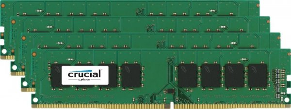 Crucial 32GB Kit DDR4 2133 MT/s 8GBx4 DIMM 288pin single ranked