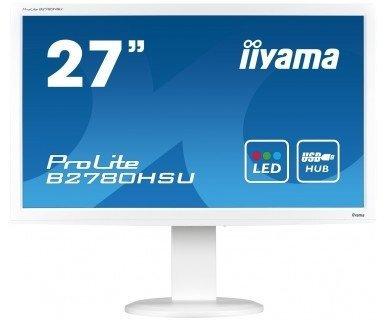 IIYAMA 27''   B2780HSU-W1  16:9  DVI+HDMI biały Lift