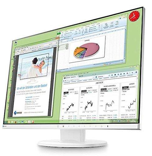 EIZO FlexScan EV2455-WT, biały, DisplayPort, HDMI, DVI-D, USB 3.0, Pivot
