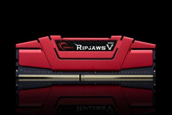 G.Skill 16GB DDR4-2666 Kit, czerwony F4-2666C15D-16GVR, Ripjaws V