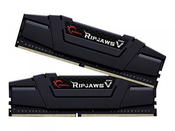 G.Skill 32 GB DDR4-3200 Kit, czarny, F4-3200C14D-32GVK, Ripjaws V