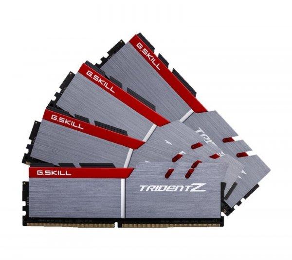 G.Skill 32 GB DDR4-3200 Quad-Kit, F4-3200C15Q-32GTZ, Trident Z