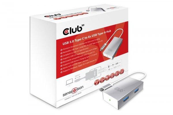 Club3D Adapter USB 3.0 Typ C > 4x USB 3.0 Typ A retail