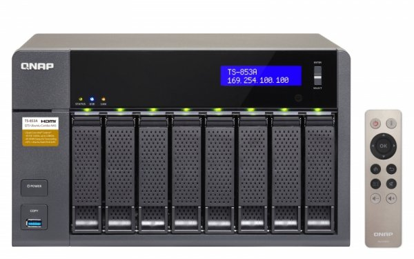 Qnap Turbo Station TS-853A-8G [0/8 HDD/SSD , 4x Gigabit-Lan, 4x USB]