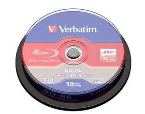 Verbatim BD-RE 25 GB 2x, 10 szt., bia