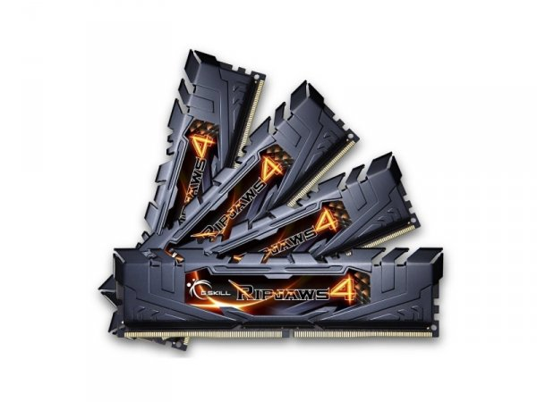 G.Skill 32 GB DDR4-3000 Quad-Kit, czarny, F4-3000C15Q-32GRK, Ripjaws 4