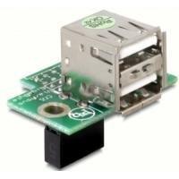 Delock USB Pinheader -> 2x USB 2.0