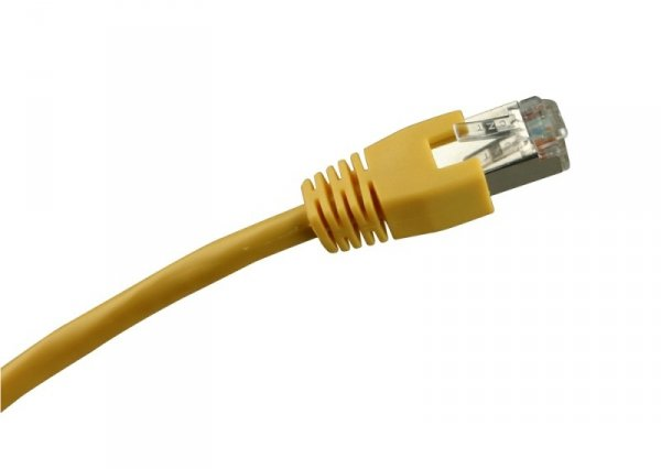 Sharkoon RJ45 Kabel Sieciowy CAT.5e SFTP yellow 0,50m