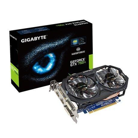 GIGABYTE GeForce GTX 750 Ti OC WF2, 2x HDMI, DVI-I, DVI-D, Retail