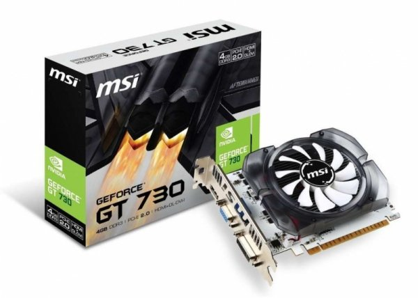 MSI GeForce N730-4GD3V2, HDMI, DVI-I, VGA