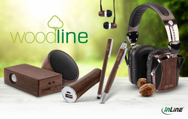InLine®  Woodline USB PowerBank 3.000mAh z diodą LED