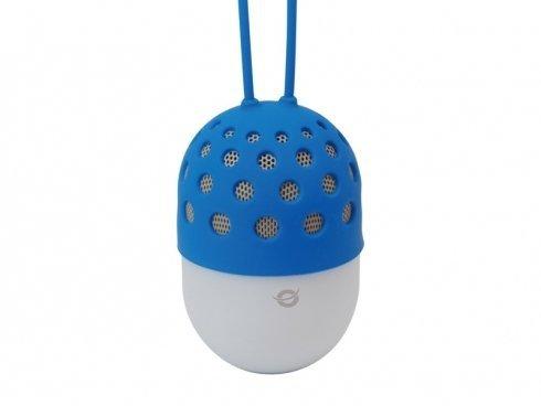 Conceptronic Wireless waterproof Bluetooth LED Speaker blue