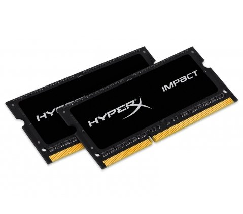Kingston HyperX SO-DIMM 8GB DDR3L-1866 Kit,HX318LS11IBK2/8, Impact Black