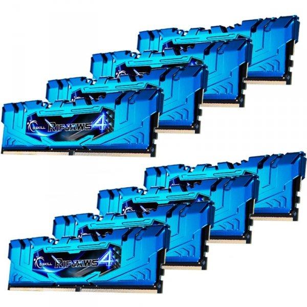 G.Skill DDR4 64GB 2666-16 Ripjaws 4 Blue